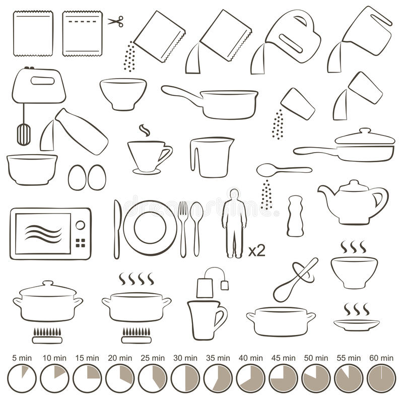 Icons cooking vector illustration