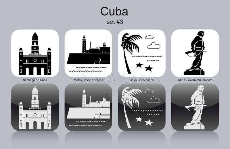 Icons of Cuba royalty free illustration