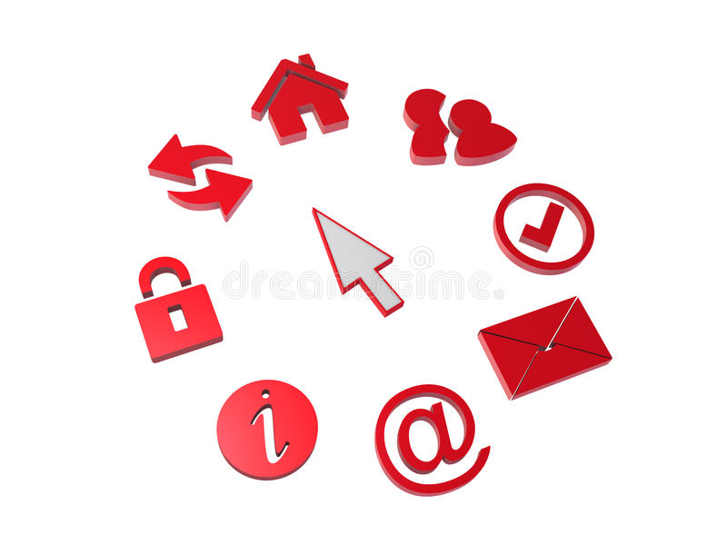 Download Icons and cursor stock illustration. Image of information - 12734899