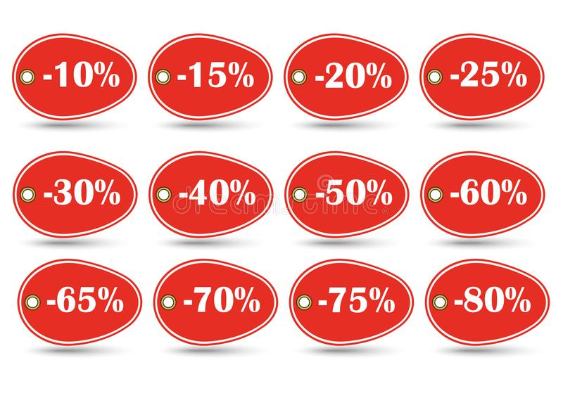 Discount label design for Christmas sale special offer stock illustration