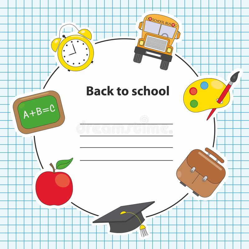 Icons Of Education And School Royalty Free Stock Images