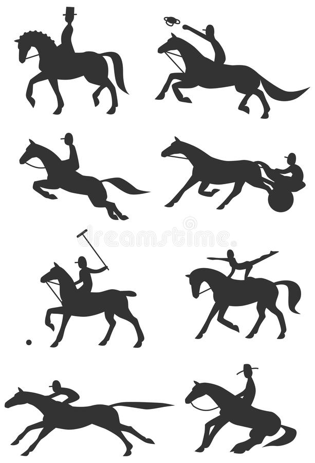 Download Icons Equestrian Sports stock vector. Image of riding - 34228860