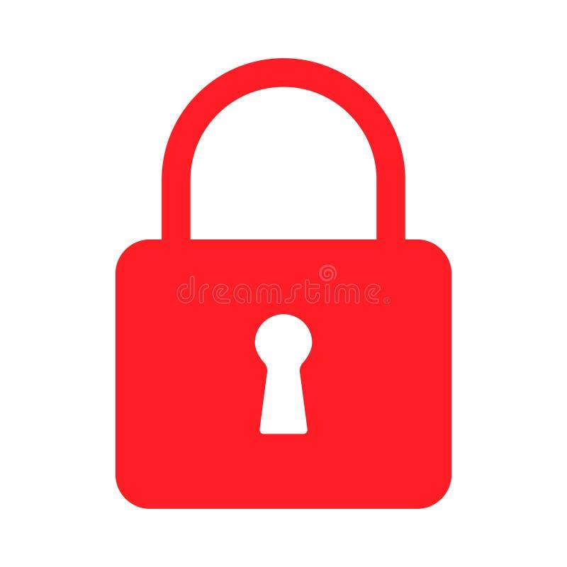 Icons flat closed lock. Symbols vector security. Isolated symbol on white background royalty free illustration