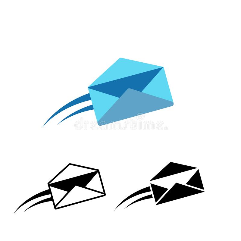 Mail icon. Vector royalty free stock photo