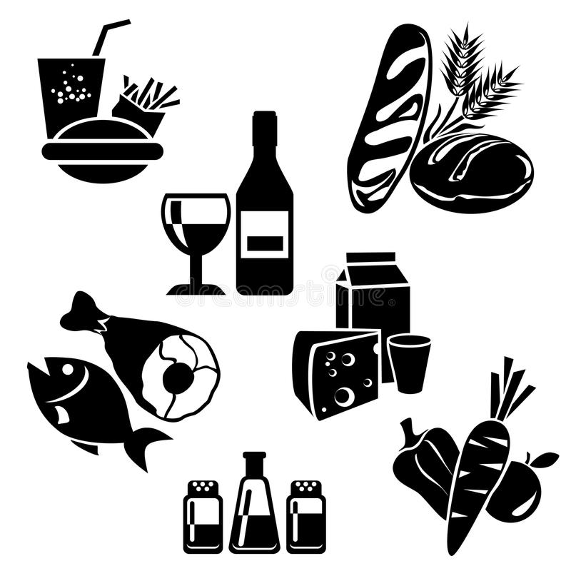 Icons_food lizenzfreie abbildung