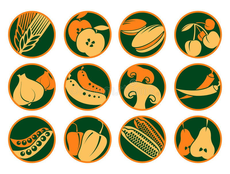 Icons_food imágenes de archivo libres de regalías
