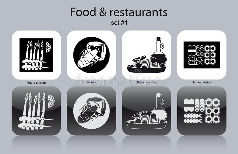 Download Icons Of Food And Restaurants Stock Vector - Image: 40872705