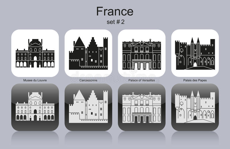 Icons of France royalty free illustration