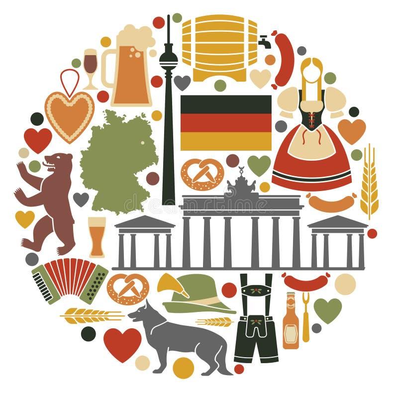 German Royalty Symbols German Shepherd Dog Stock Vector