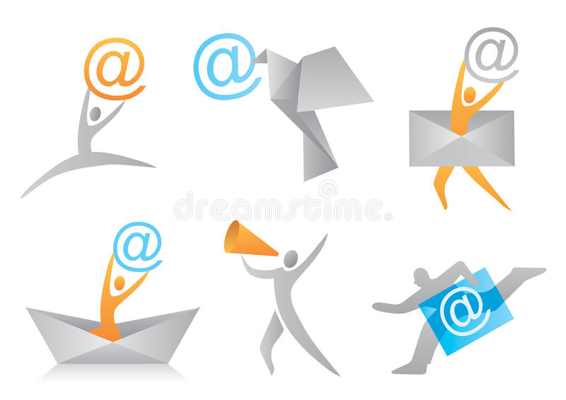 Icons_I_Mail illustration libre de droits