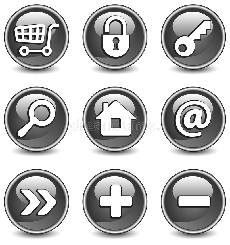 Free Icons In Black Stock Images - 8119874