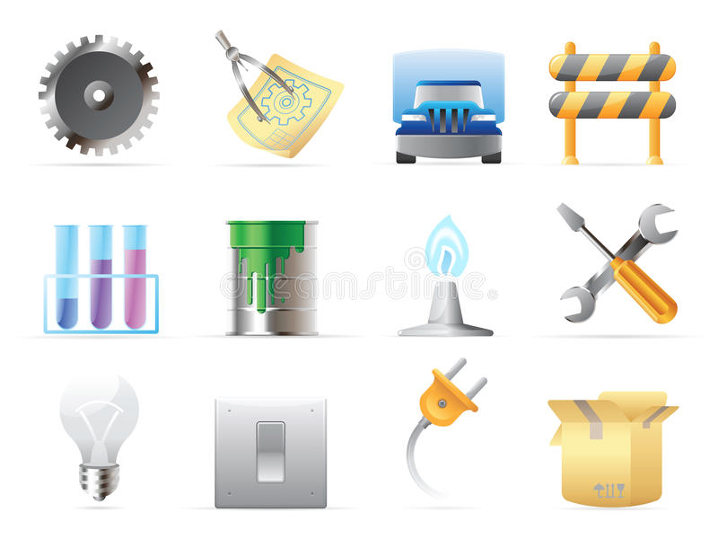 Icons for industry royalty free illustration