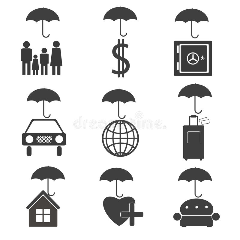 Icons for the insurance company vector illustration