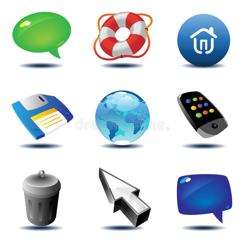 Download Icons For Interface Royalty Free Stock Photos - Image: 11688298