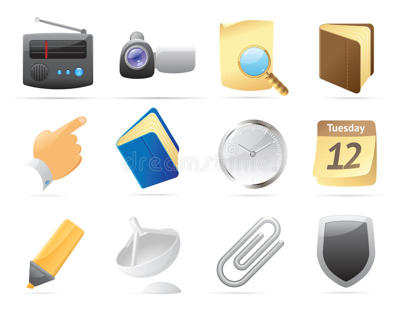 Icons for interface. Icons for computer and website interface. Vector illustration royalty free illustration
