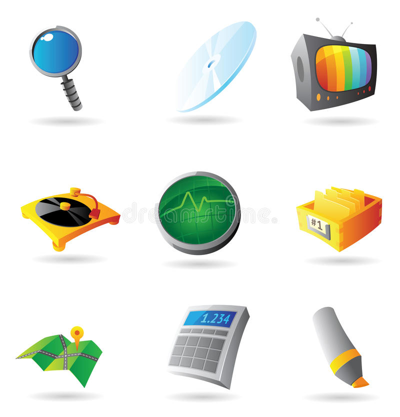 Icons for interface. Vector illustration vector illustration