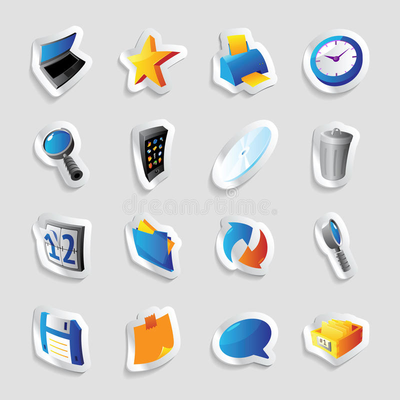 Icons for interface. Icons for computer program and website interface. Vector illustration stock illustration