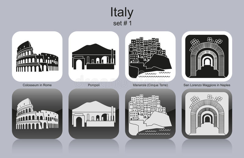 Icons of Italy royalty free illustration