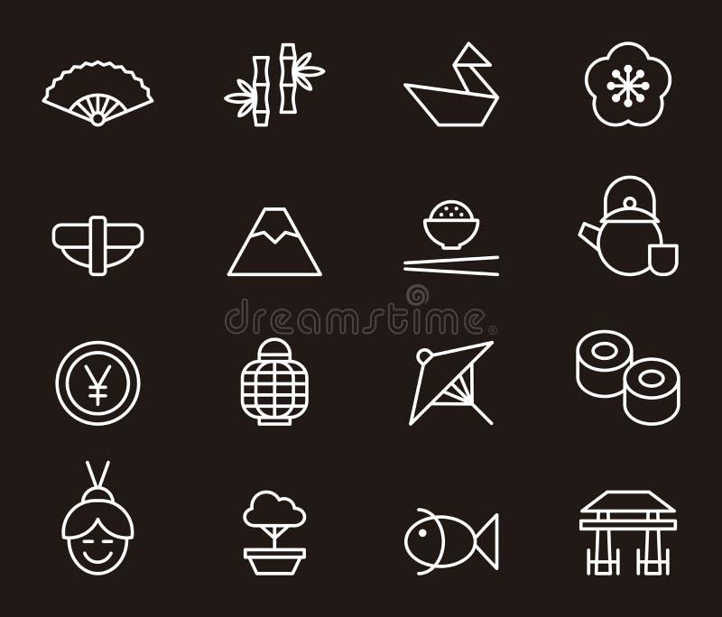 icons japanese απεικόνιση αποθεμάτων