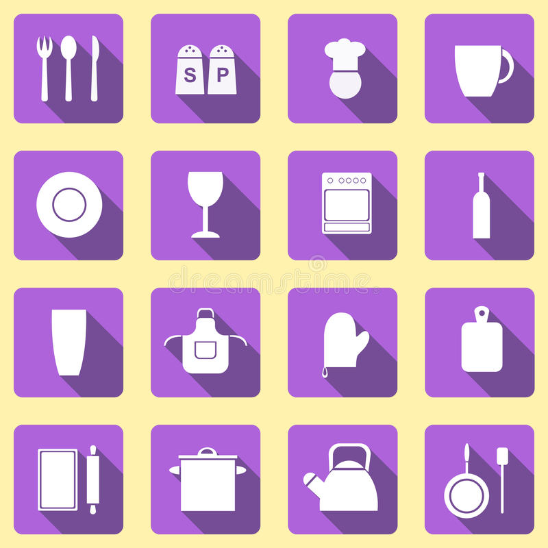 Icons kitchen theme royalty free stock photography