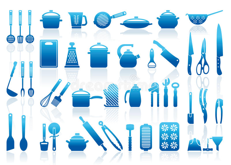 Icons of kitchen ware vector illustration