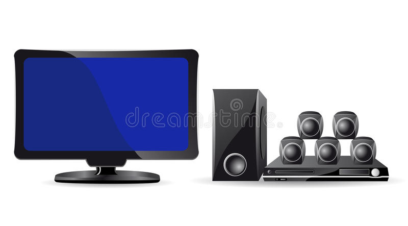 Icons LCD TV and domestic cinema