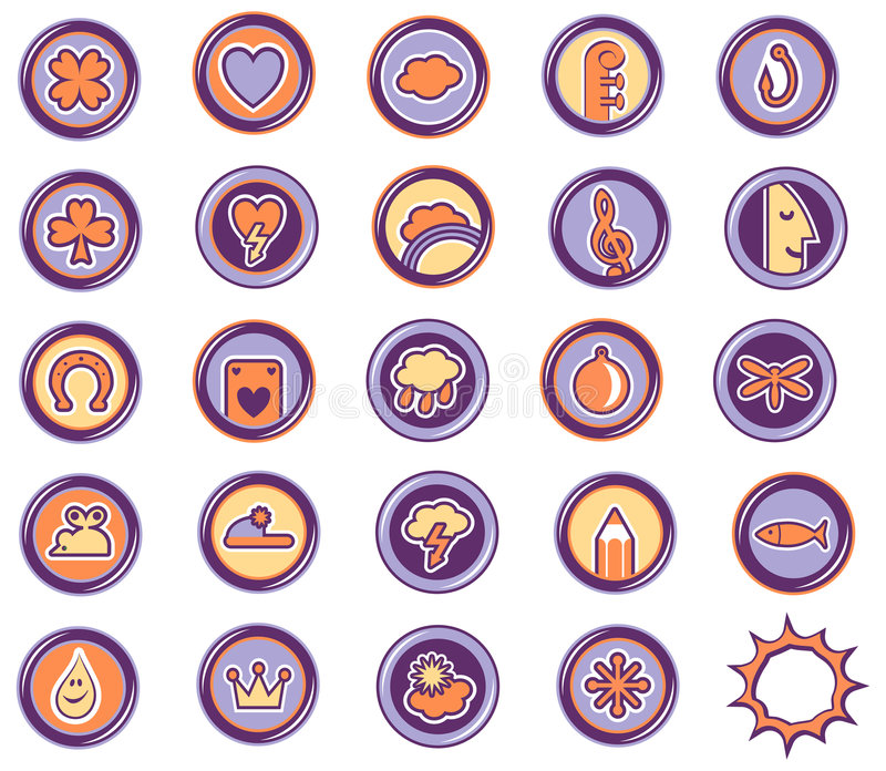 Download Icons Leasure Royalty Free Stock Photo - Image: 1027035