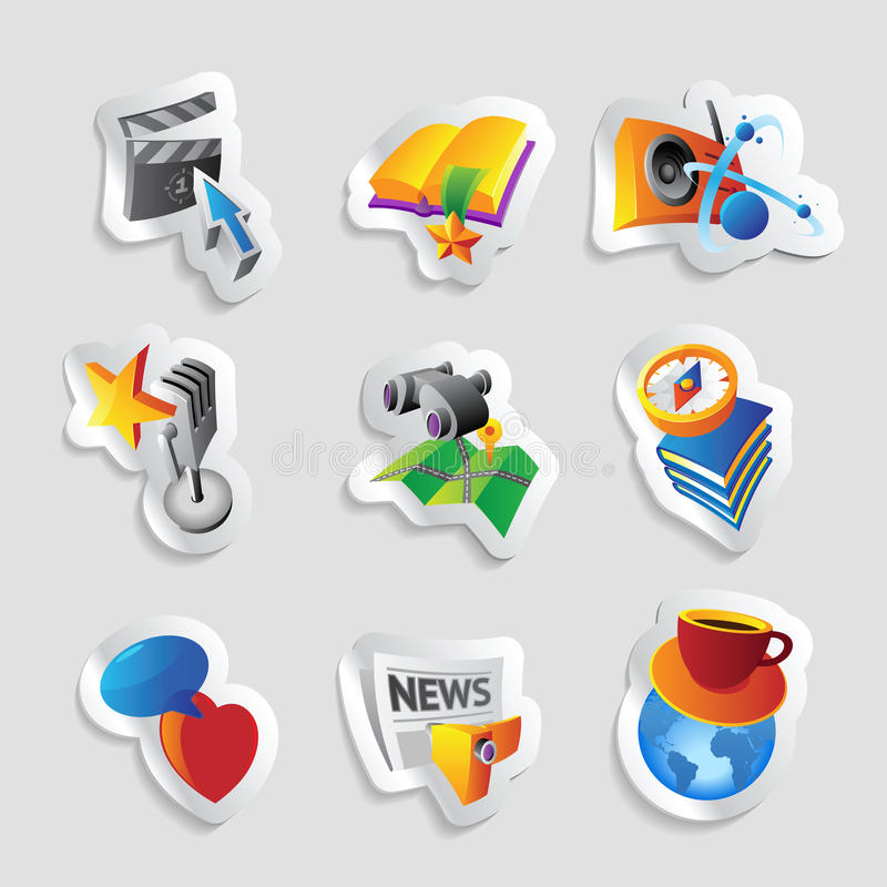 Download Icons for leisure stock vector. Image of binoculars, coffee - 31140717