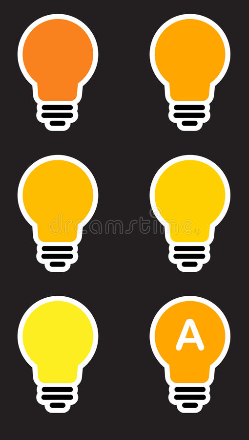Icons light bulb