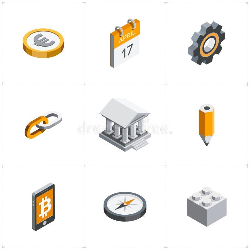 icons llll 向量例证