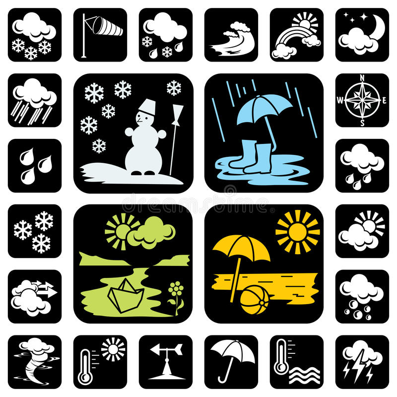 Icons_meteo vector illustration