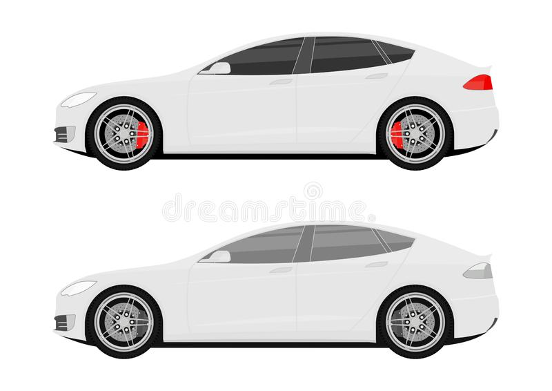 Icons of modern cars. vector illustration