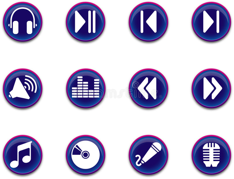 Icons - Music Series 1 Stock Images