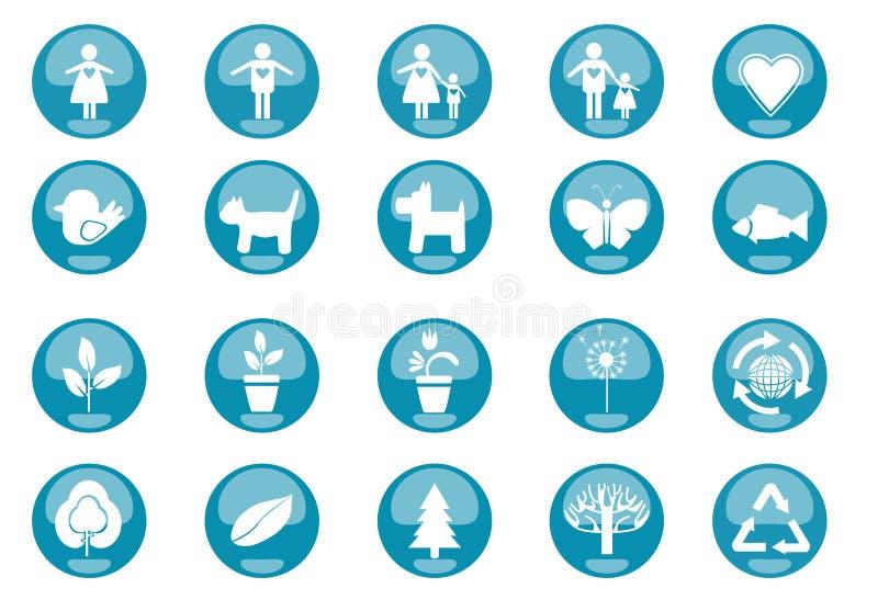 Icons Nature stock illustration
