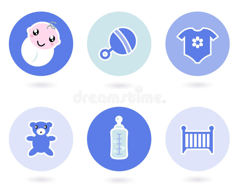 Download Icons And Objects For Baby Boy Stock Vector - Image: 23393546