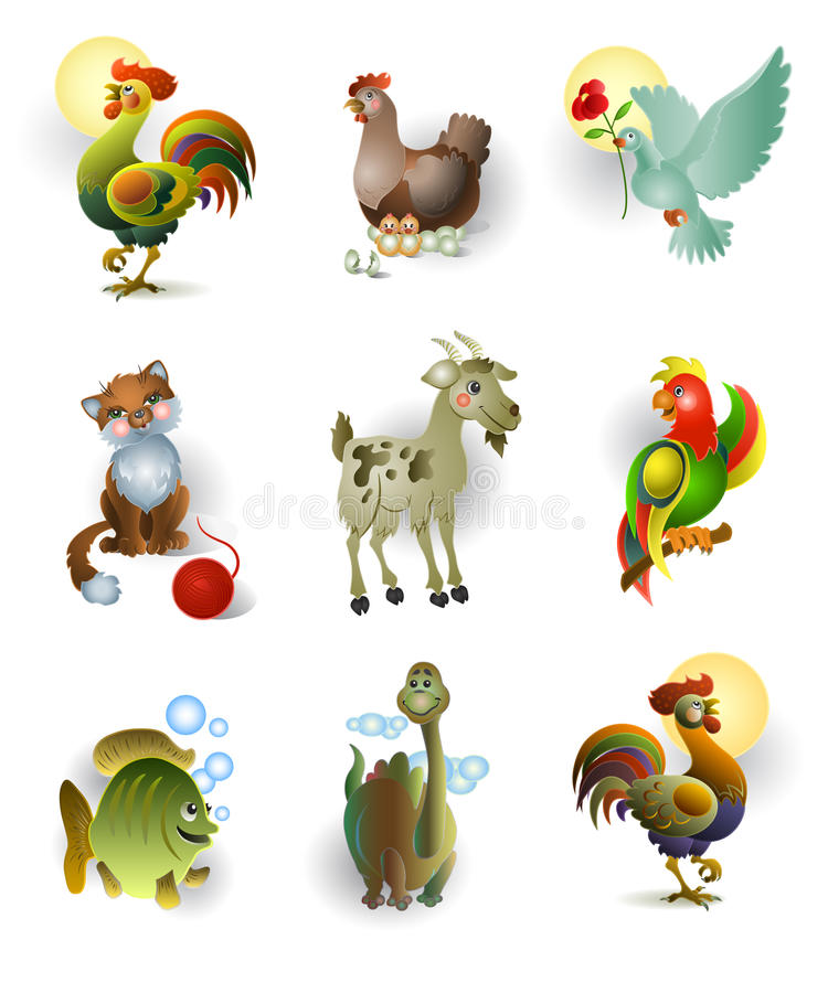 Free Icons Of Animals Stock Photo - 21716320