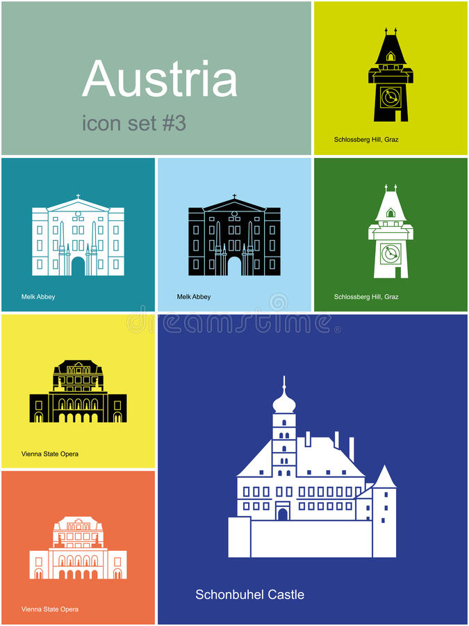 Free Icons Of Austria Royalty Free Stock Photo - 48826725
