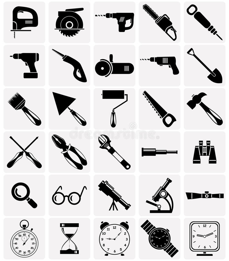 Free Icons Of Tools And Devices Royalty Free Stock Images - 50756679