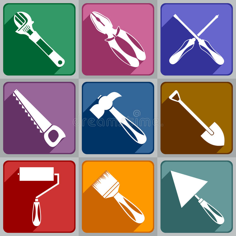 Free Icons Of Working Tools Stock Photo - 35647860