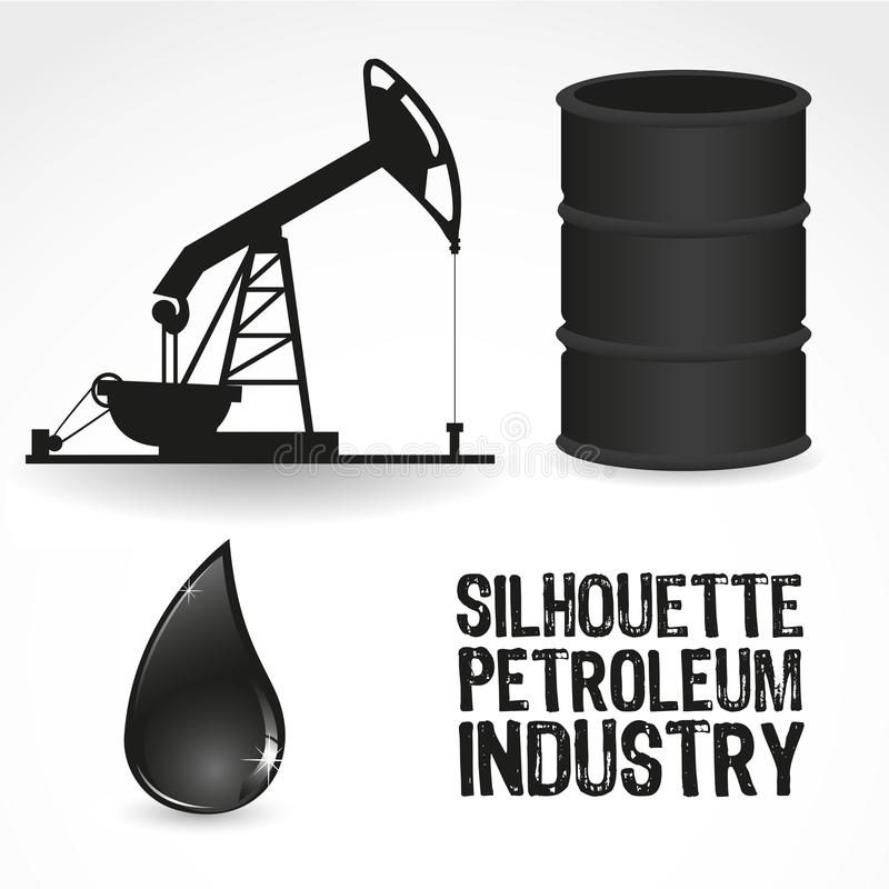 Icons in the oil industry stock illustration