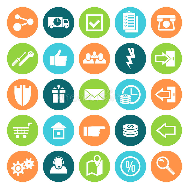 Icons online store stock illustration