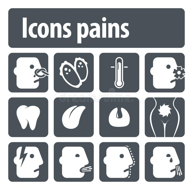 Download Icons pains stock vector. Illustration of patient, drugs - 27656249