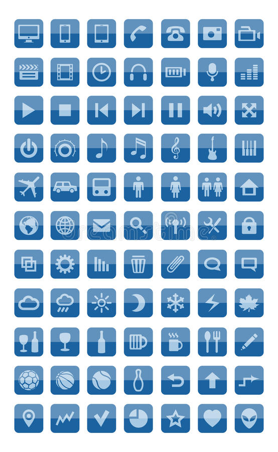 Download Icons and pictograms set stock vector. Illustration of media - 27386488