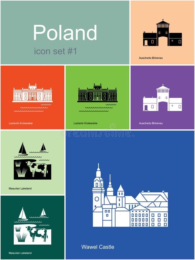 Icons of Poland royalty free illustration