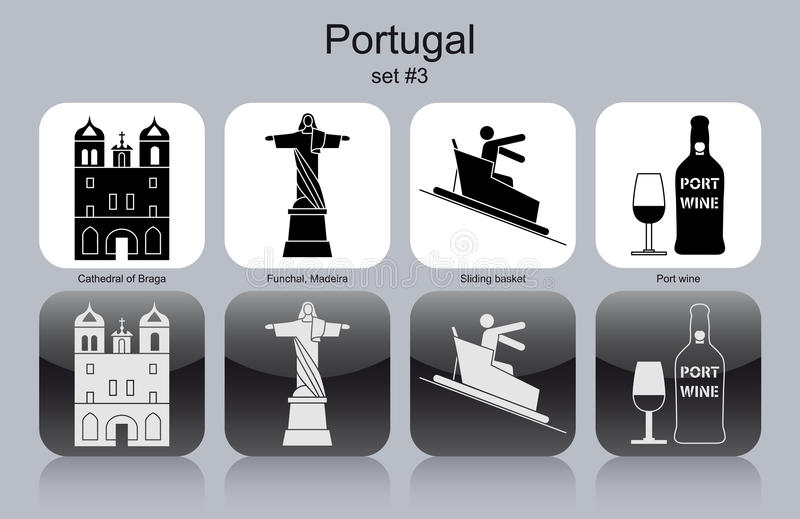 Icons of Portugal vector illustration
