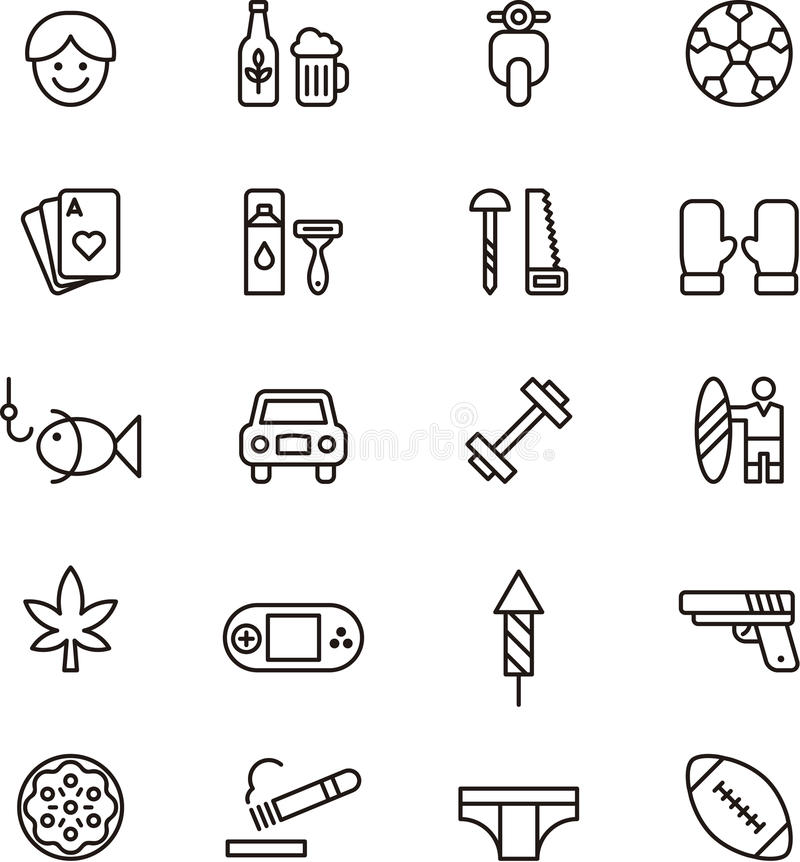Free Icons Related To Boys And Men Stock Photography - 41795272