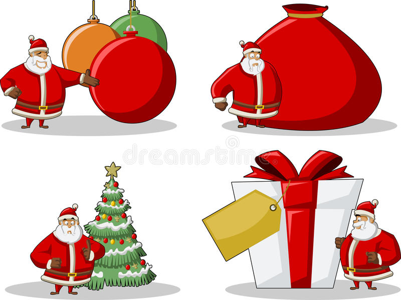 Download Icons Of Santa-Claus On Christmas Time Stock Vector - Illustration of pine, gift: 17410942
