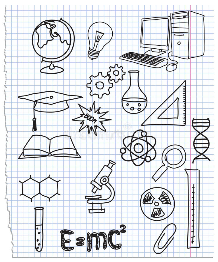 Download Icons a science stock vector. Image of explosion, calculation - 21712028