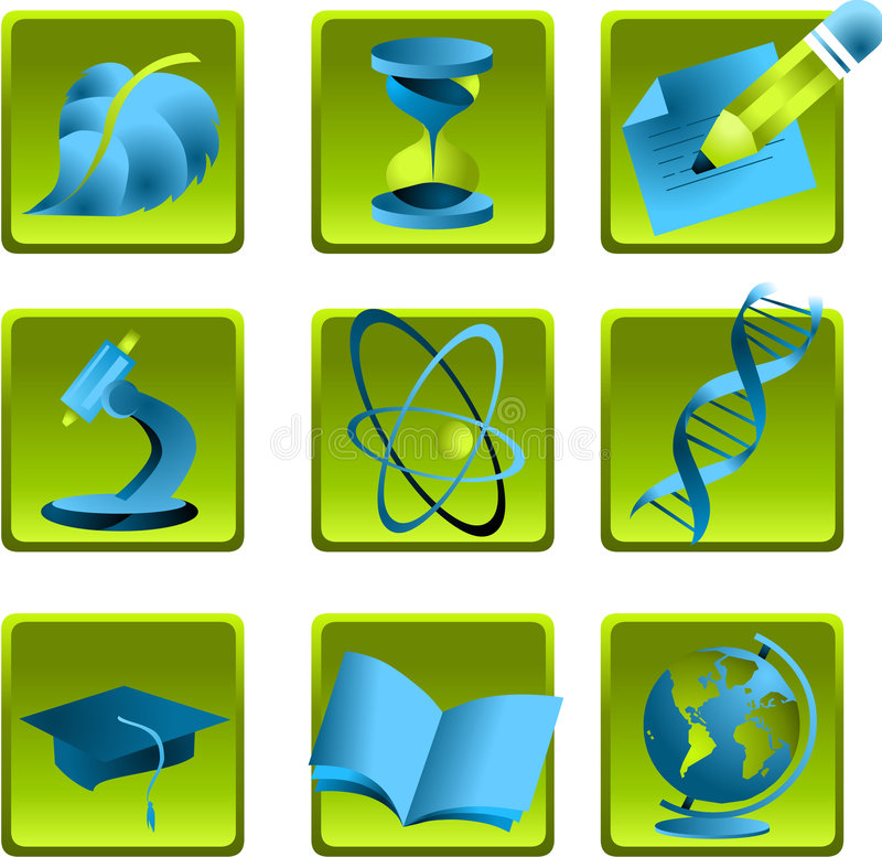 Download Icons science stock vector. Illustration of university - 4749385