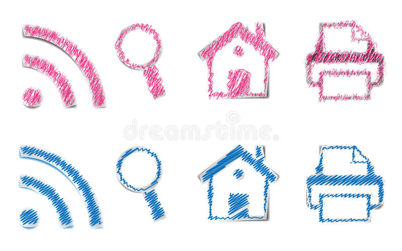Download ICONS Scribble stock illustration. Illustration of learning - 26141099